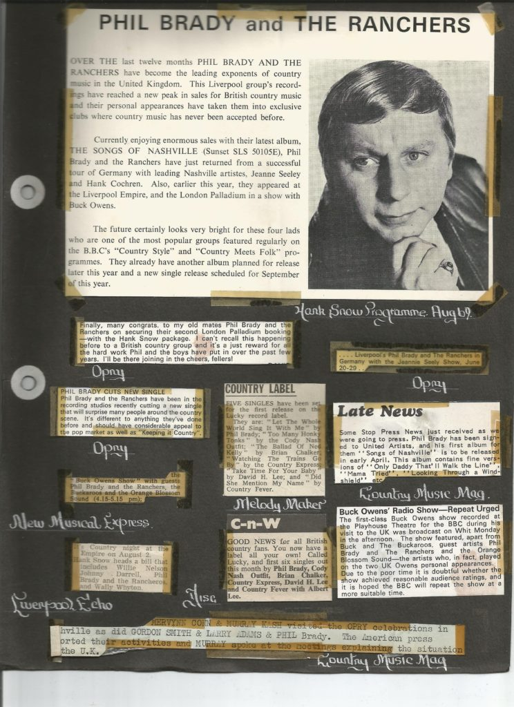 A page from Phil's scrapbook