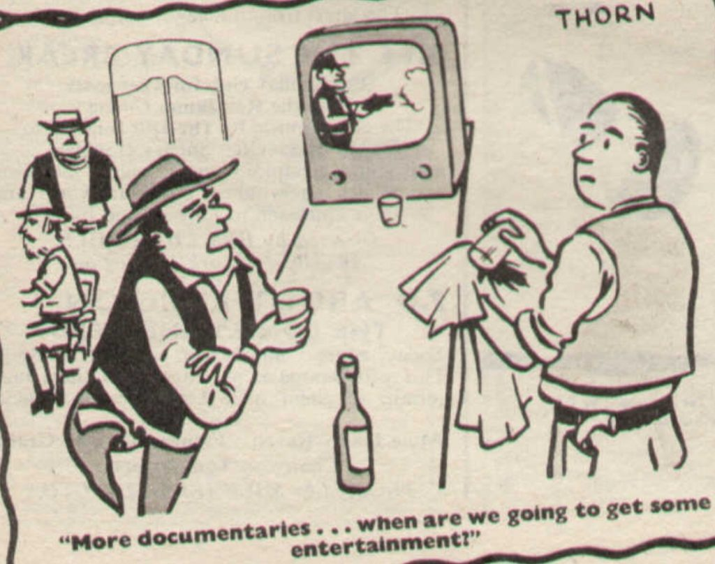 From the TV Times, March 1959